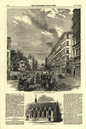 Victoria Street, Westminster. London 1854 antique ILN full page print